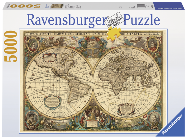 RAVENSBURGER PUZZLE 5000 PEZZI - MAPPAMONDO STORICO Ravensburger1