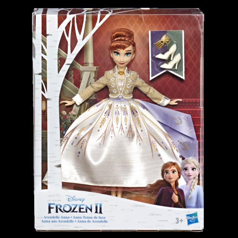 Hasbro disney frozen - fashion doll arendelle anna con abito bianco scintillante da viaggio ispirato al film disney frozen 2 - FROZEN 2