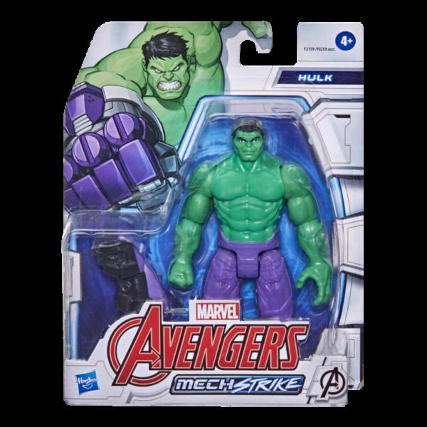 Avengers  HASBRO MARVEL AVENGERS MECH STRIKE - ACTION FIGURE DI HULK DA 15 CM E ACCESSORIO DA BATTAGLIA, PER BAMBINI DAI 4 ANNI IN SU