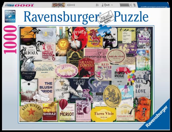 RAVENSBURGER PUZZLE 1000 PEZZI - ETICHETTE DI VINO Ravensburger1