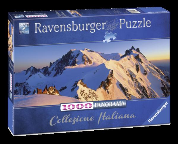 RAVENSBURGER PUZZLE 1000 PEZZI -  PANORAMA: MONTE BIANCO Ravensburger1