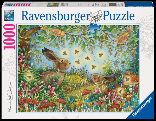 RAVENSBURGER PUZZLE 1000 PEZZI - BOSCO MAGICO DI NOTTE Ravensburger1