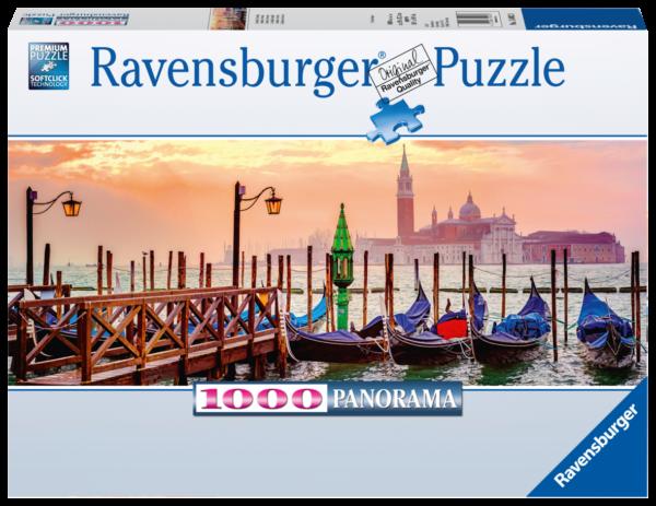 RAVENSBURGER PUZZLE 1000 PEZZI -  PANORAMA: GONDOLE A VENEZIA Ravensburger1