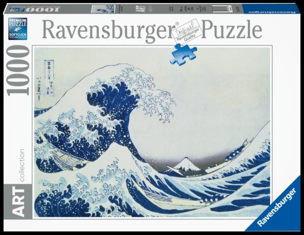 RAVENSBURGER PUZZLE 1000 PEZZI -  THE GREAT WAVE OF KANAGAWA Ravensburger1