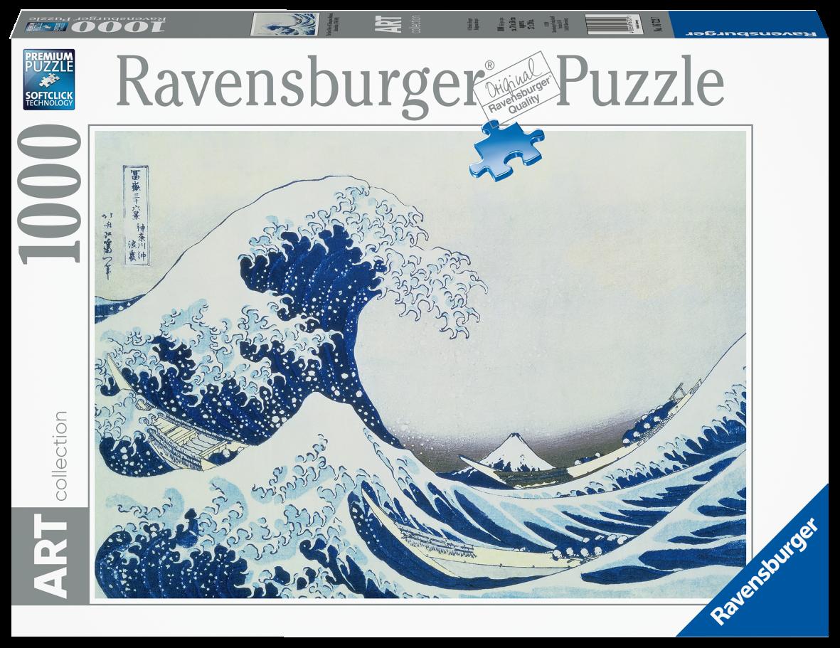 Ravensburger puzzle 1000 pezzi -  the great wave of kanagawa - Ravensburger1