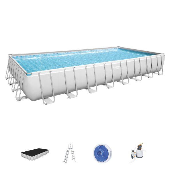 Set piscina fuori terra Power Steel™ da 9.56 m x 4.88 m x 1.32 m di Bestway® Bestway
