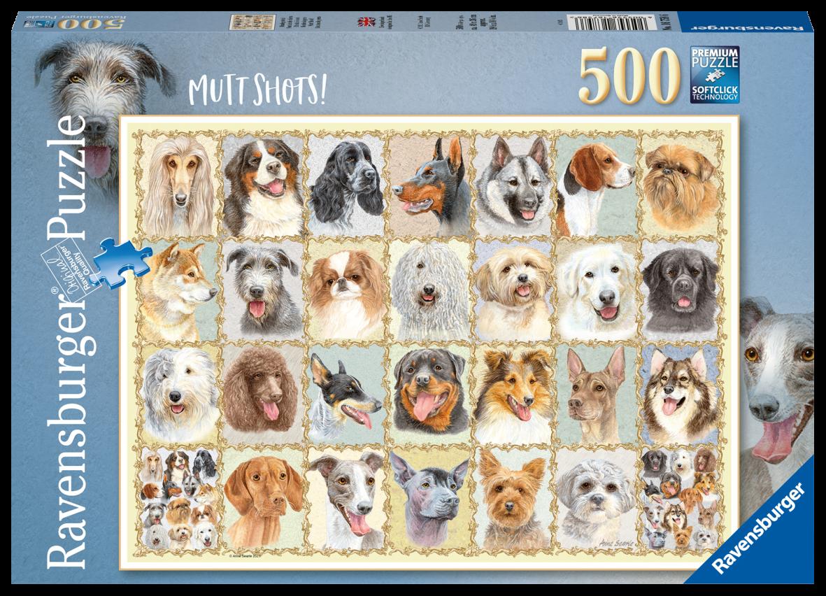 Ravensburger 500 pezzi - ritratti di cani - Ravensburger1