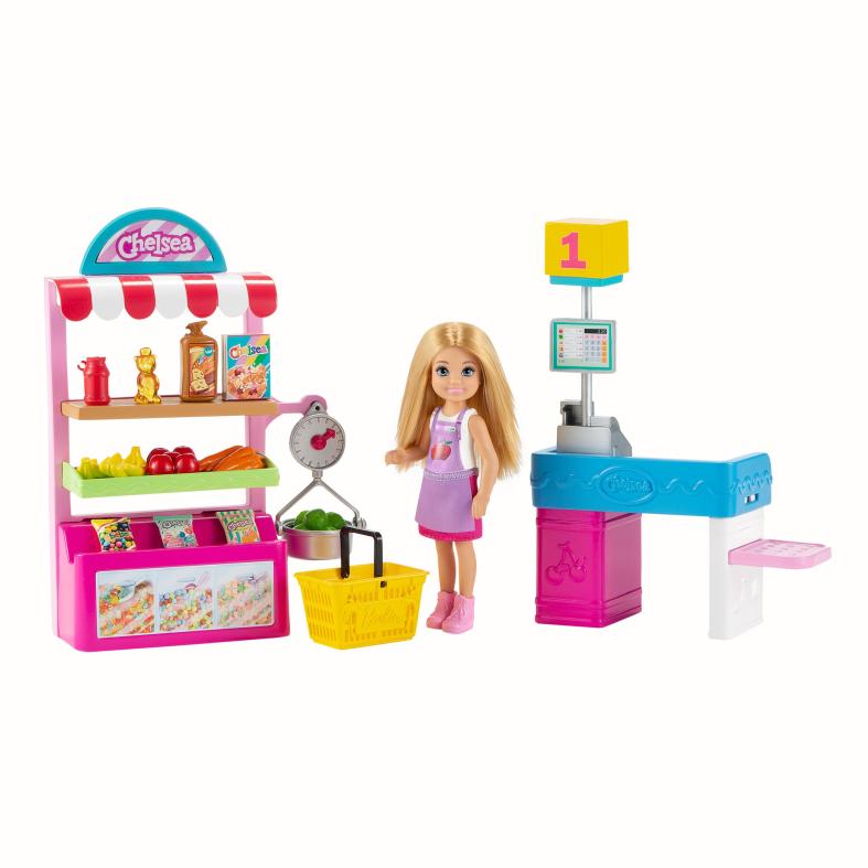 Barbie- playset chiosco degli snack con bambola chelsea e più di 15 accessori, 3+anni - Barbie