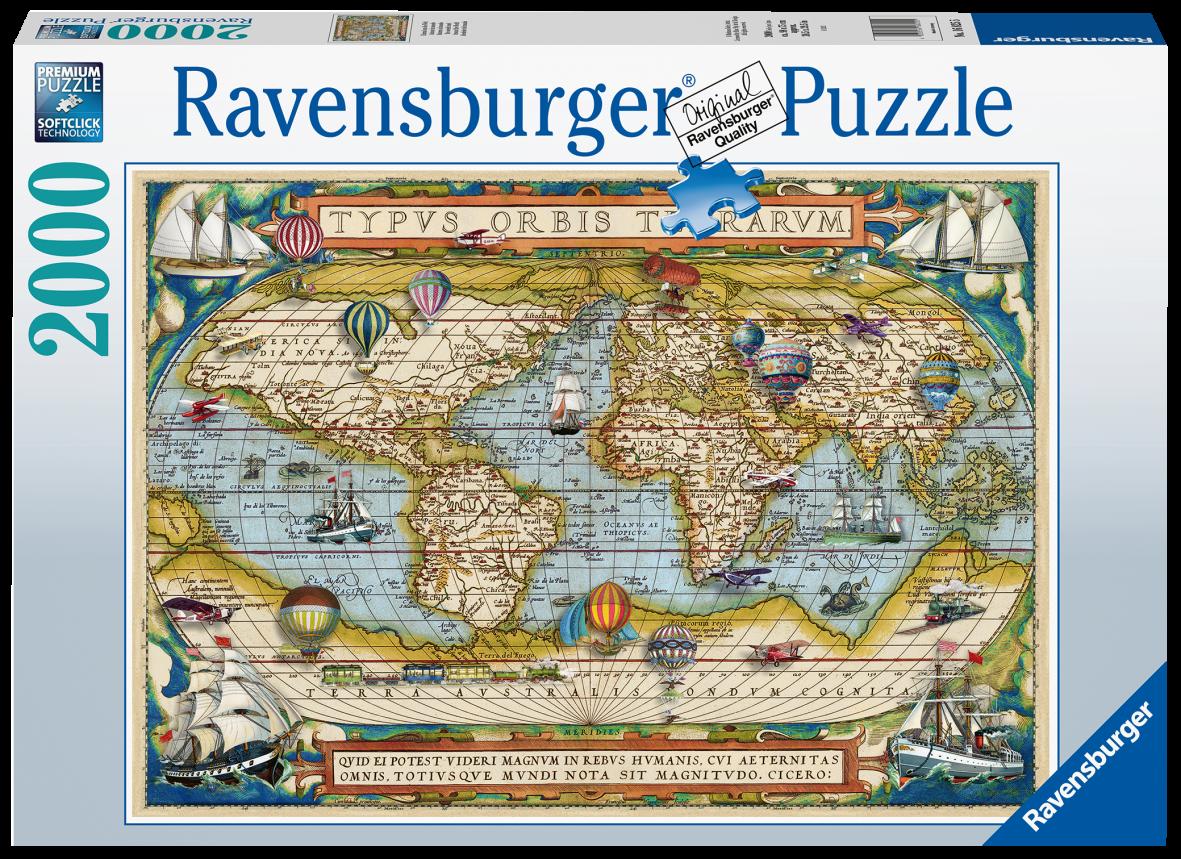 Ravensburger 2000 pezzi - intorno al mondo - Ravensburger1
