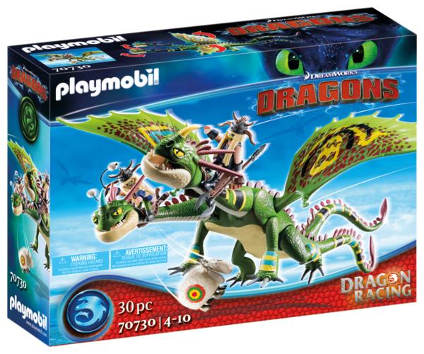 DRAGONS RACING: TESTABRUTA E TESTADITUFO CON VOMITO E RUTTO Playmobil