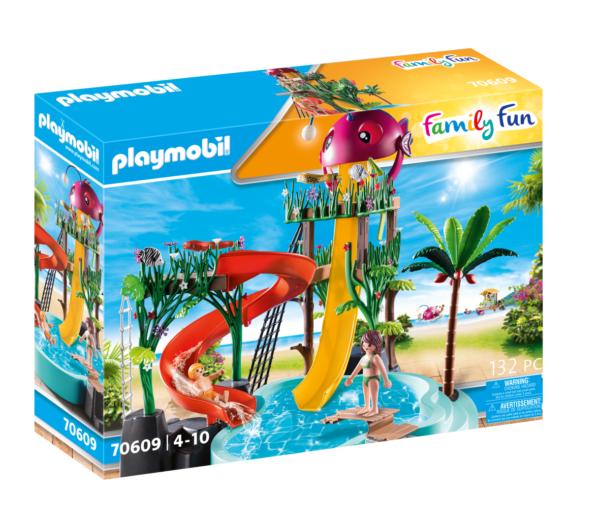 PARCO ACQUATICO CON SCIVOLI Playmobil