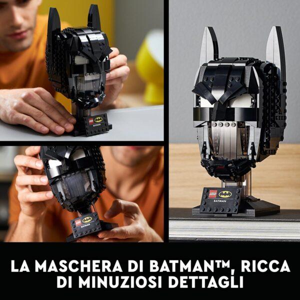 DC COMICS, DC Comics Super Heroes  LEGO DC Cappuccio di Batman, Set da Costruzione per Adulti, Modello da Collezione dei Supereoi, 76182