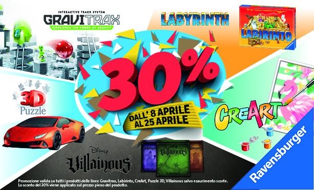 -30% su tantissimi prodotti RAVENSBURGER!