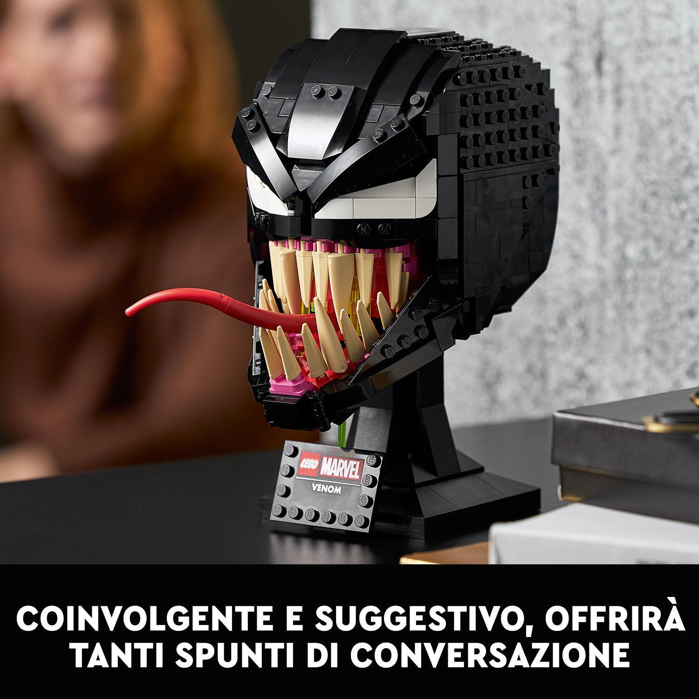 Lego marvel spider-man venom, set da costruzione per adulti, modello da collezione e idea regalo, 76187 -