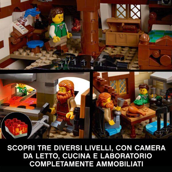 LEGO Ideas Fabbro Medievale, Set da Costruzione per Adulti, Modello da Esposizione e Collezione con Officina, 21325