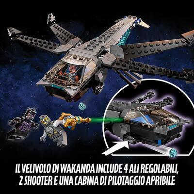 Lego  LEGO Super Heroes Il Dragone Volante di Black Panther, Giocattolo per Bambini di 8 Anni dei Supereroi Marvel Avengers, 76186
