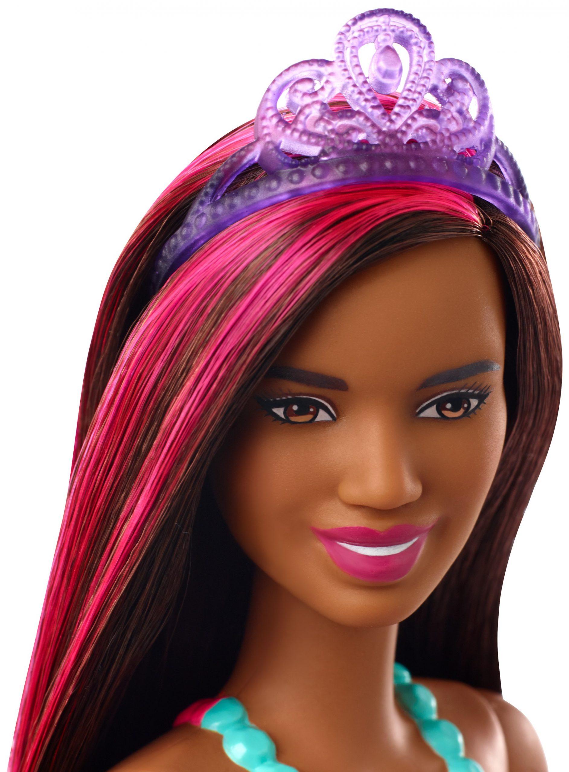 Barbie- dreamtopia bambola principessa con ciocca rosa, 30.5 cm, giocattolo per bambini 3+ anni, multicolore - Barbie