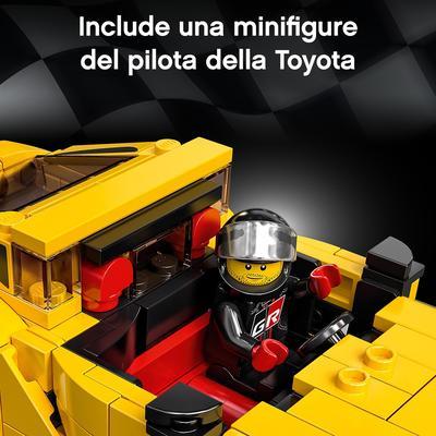 LEGO Speed Champions Toyota GR Supra, Macchina Giocattolo per Bambini di 7 Anni, Auto Sportiva da Corsa con Pilota, 76901   Lego