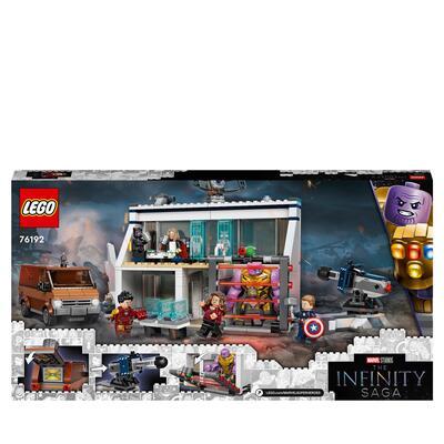LEGO Super Heroes Marvel Avengers: Endgame, la Battaglia Finale, Set per Bambini di 8 Anni con Thanos e 6 minifigure, 76192 Lego