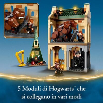 Lego   LEGO Harry Potter Hogwarts: Incontro con Fuffi, Castello Giocattolo con Cane a Tre Teste e Minifigure d'Oro del 20° Anniversario, 76387