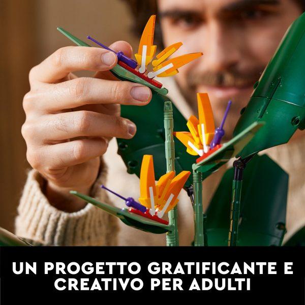 LEGO Creator Expert Uccello del Paradiso, Set di Costruzioni per Adulti, Modello da Esposizione con Fiori Artificiali, 10289    Lego