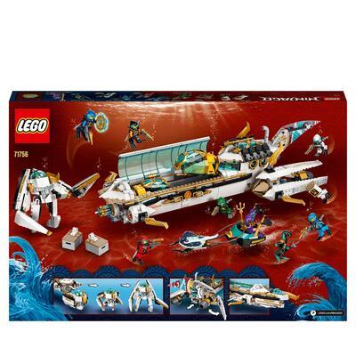 Lego LEGO NINJAGO Idro-Vascello, Sottomarino Giocattolo per Bambini di 9 Anni con le Minifigure dei Ninja Kai e Nya, 71756