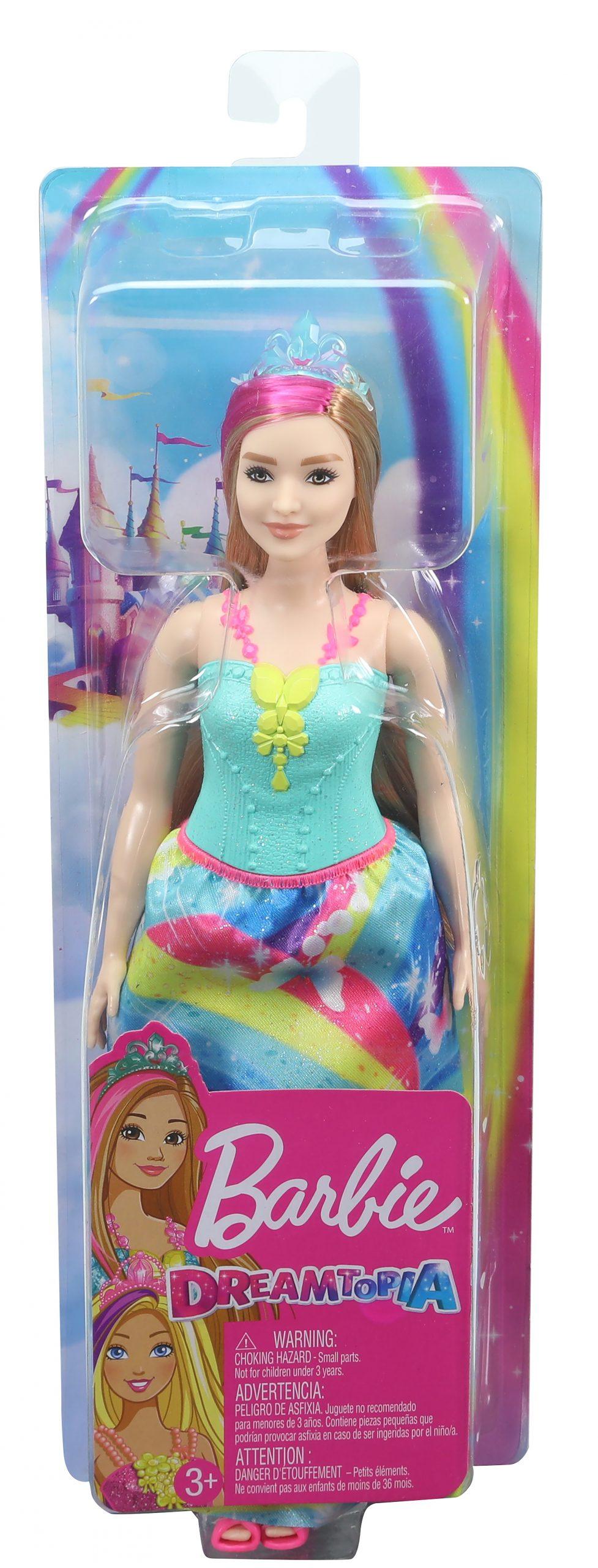 Barbie- dreamtopia bambola principessa bionda con ciocca rosa giocattolo per bambini 3+ anni - Barbie