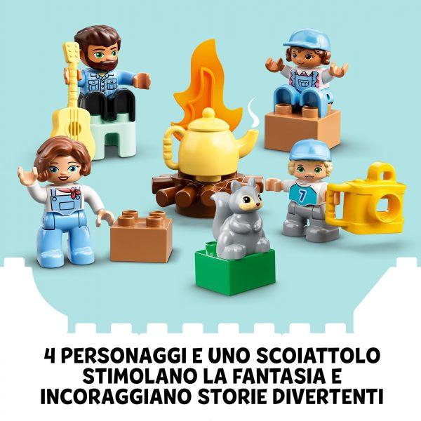LEGO DUPLO Town Avventura in Famiglia sul Camper Van, Giocattoli Educativi per Bambini di 2 Anni con 4 Minifigure, 10946    LEGO DUPLO, Lego