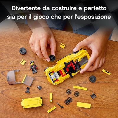 Lego   LEGO Speed Champions Toyota GR Supra, Macchina Giocattolo per Bambini di 7 Anni, Auto Sportiva da Corsa con Pilota, 76901
