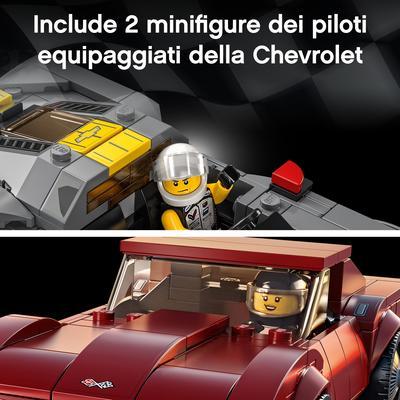 LEGO Speed Champions Chevrolet Corvette C8.R e 1968 Chevrolet Corvette, 2 Modelli di Macchine Giocattolo per Bambini, 76903   Lego