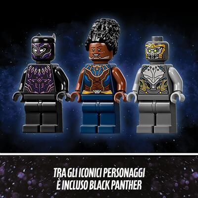 LEGO Super Heroes Il Dragone Volante di Black Panther, Giocattolo per Bambini di 8 Anni dei Supereroi Marvel Avengers, 76186    Lego