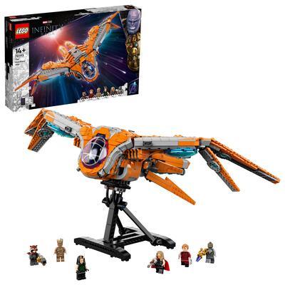 LEGO Super Heroes Marvel L'Astronave dei Guardiani, Giocattoli Avengers con le Minifigure di Thor e Star-Lord, 76193 Lego