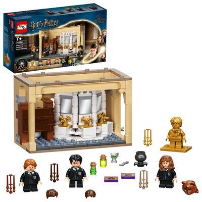 LEGO Harry Potter Hogwarts: Errore della Pozione Polisucco, Castello Giocattolo con Minifigure d'Oro del 20° Anniversario, 76386 Lego