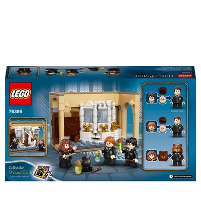 Lego LEGO Harry Potter Hogwarts: Errore della Pozione Polisucco, Castello Giocattolo con Minifigure d'Oro del 20° Anniversario, 76386