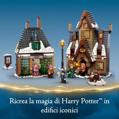 Lego  LEGO Harry Potter Visita al Villaggio Di Hogsmeade, Set Giocattoli per Bambini, Minifigure d'Oro del 20° Anniversario, 76388