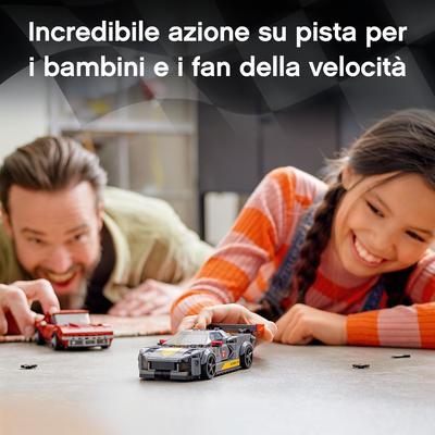Lego  LEGO Speed Champions Chevrolet Corvette C8.R e 1968 Chevrolet Corvette, 2 Modelli di Macchine Giocattolo per Bambini, 76903