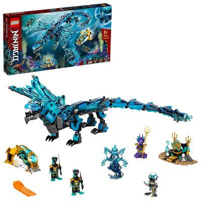 Lego ninjago dragone dell'acqua, drago giocattolo ninja, costruzioni per bambini di 9 anni con 5 minifigure, 71754 - LEGO NINJAGO, Lego