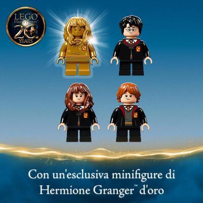 LEGO Harry Potter Hogwarts: Incontro con Fuffi, Castello Giocattolo con Cane a Tre Teste e Minifigure d'Oro del 20° Anniversario, 76387    Lego