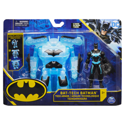 DC COMICS, BATMAN PERSONAGGIO BAT-TECH DELUXE DA 10 CM CON ARMATURA TRASFORMABILE Batman1