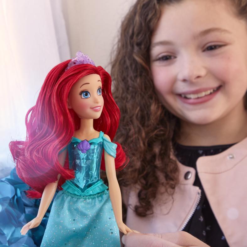 Hasbro disney princess royal shimmer - bambola di ariel, bambola fashion doll con gonna e accessori moda, giocattolo per bambini dai 3 anni in su - DISNEY PRINCESS