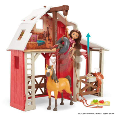 spirit - playset stalla con maneggio, include cavallo spirit e tanti accessori, 3+anni - SPIRIT