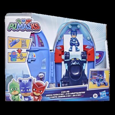 Pj masks - super pigiamini, quartier generale 2 in 1 playset - PJ MASKS