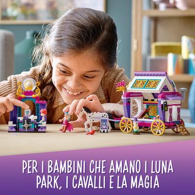 Lego friends il caravan magico, set di costruzioni per bambini, parco giochi con 2 mini bamboline, 1 cavallo e 1 gufo, 41688 - LEGO FRIENDS, Lego