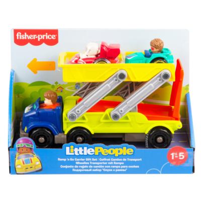 LITTLE PEOPLE- SET RAMPA ACROBAZIE, PLAYSET CON RAMPA 2-IN-1 E SET DI VEICOLI WHEELIE, 1+ANNI    Little People