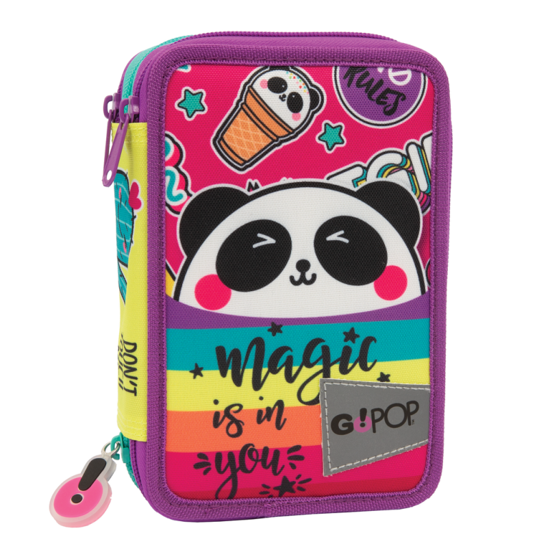 Gopop 21 astuccio triplo panda magic - GO POP