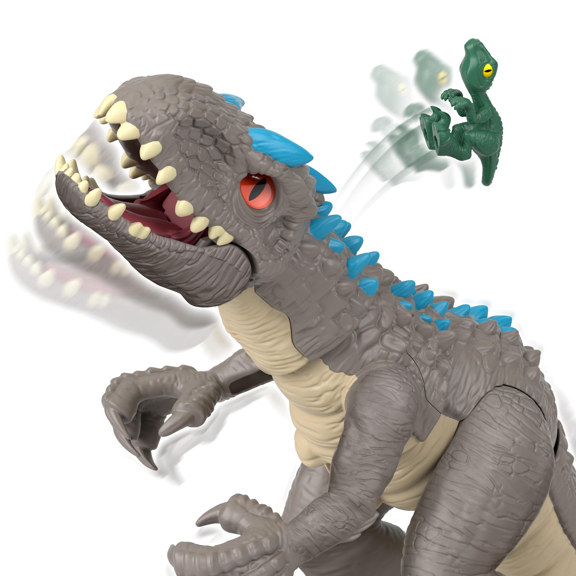 Imaginext - jurassic world dinosauro ferocissimo indominus rex, per bambini 3+ anni -