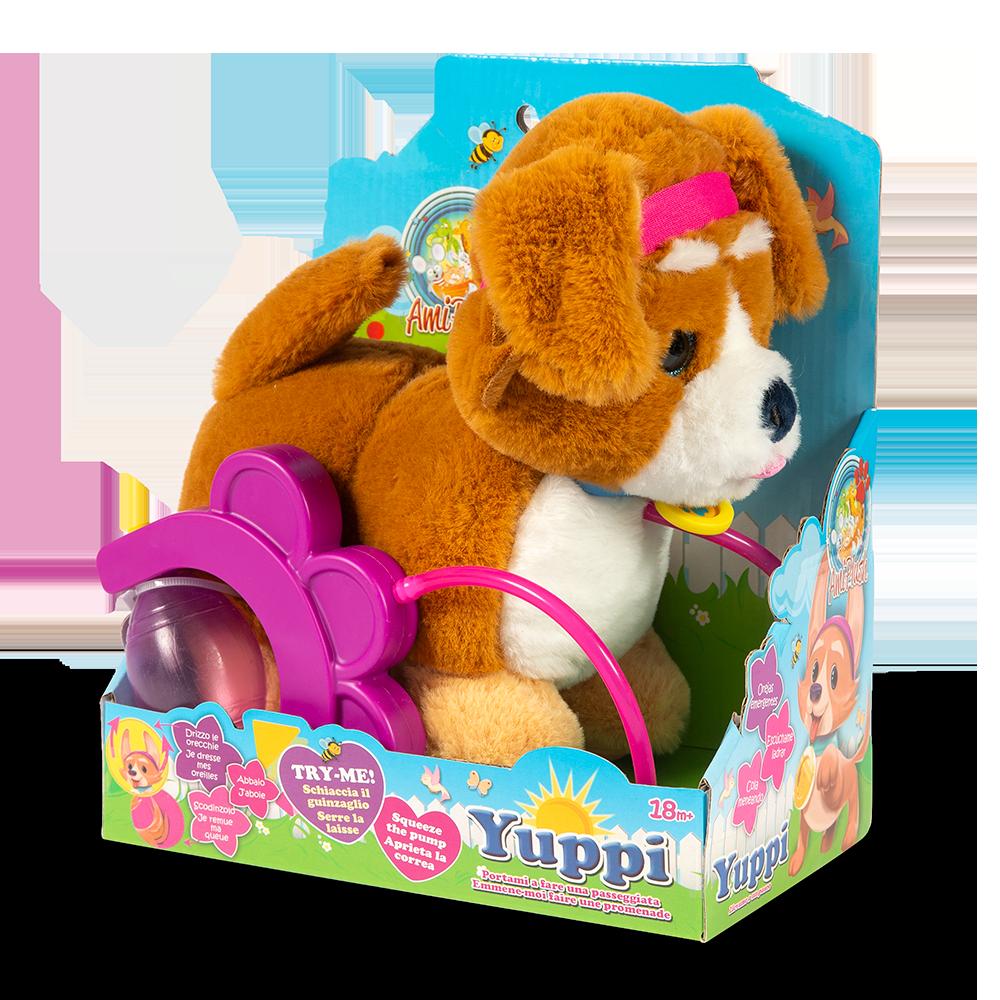 Yuppi - cane con guinzaglio - AMI PLUSH
