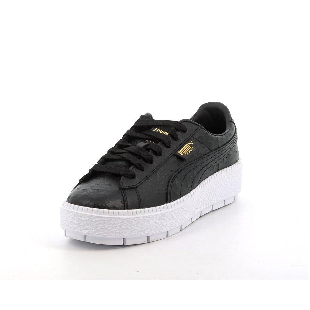 chaussures femme baskets puma select platform trace ostrich. la basket platform s',inspire du mouvement de la mode grunge des ann