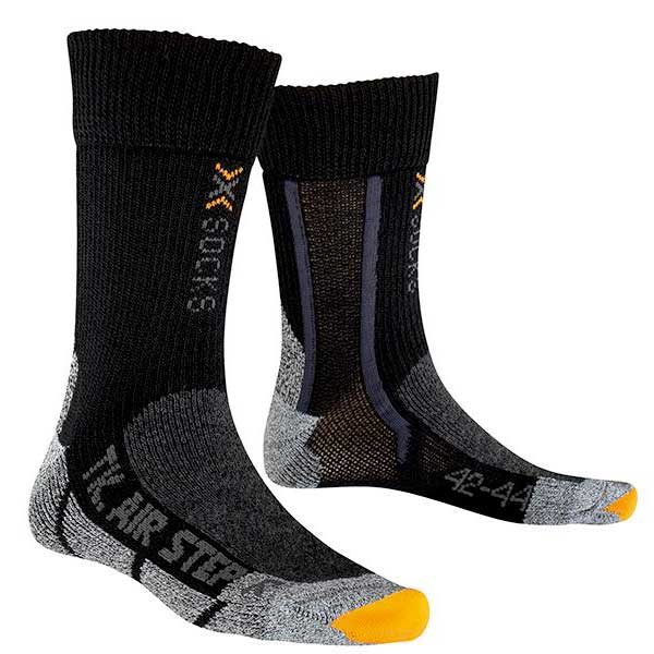 X-socks Trekking Silver Air Force One EU 35-38 Black Anthracite