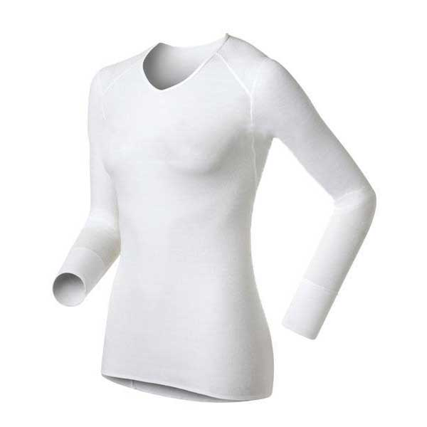 Odlo Shirt V Neck Warm XL White